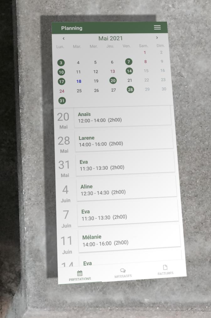 Application Leovida Version 3.0 sous Android